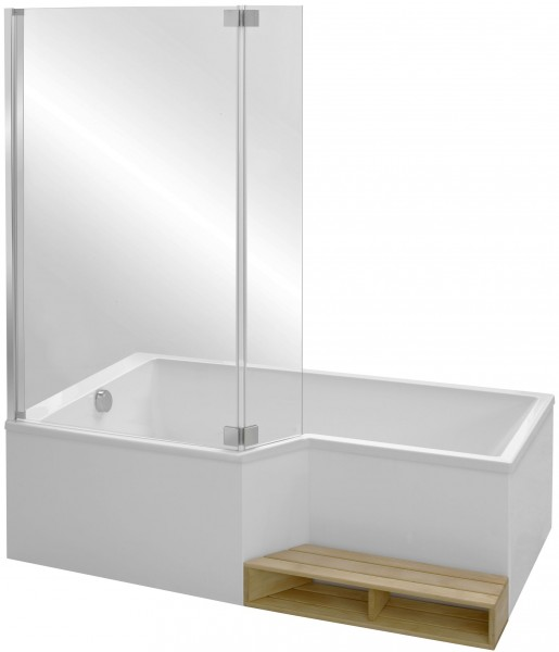 акриловая ванна Jacob Delafon Bain Douche Neo 150х80 E6d119l 00 левая